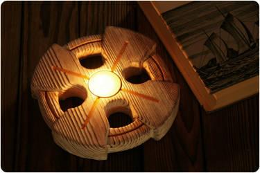 Sun cross candleholder
