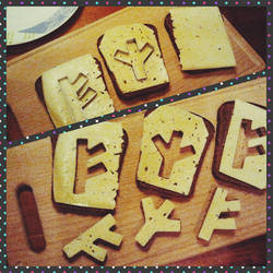 Runic cheese sandwiches by pagan-art