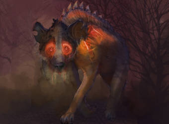 Hellbound Hyena [Printable size] by irongollem