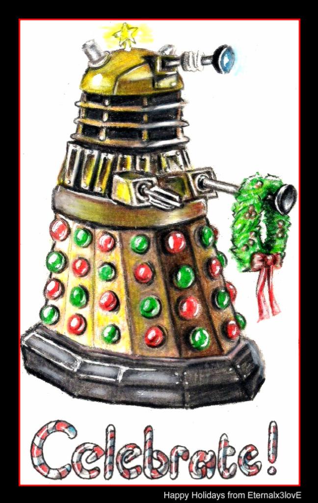 Christmas Dalek by Marissa-Emily on DeviantArt