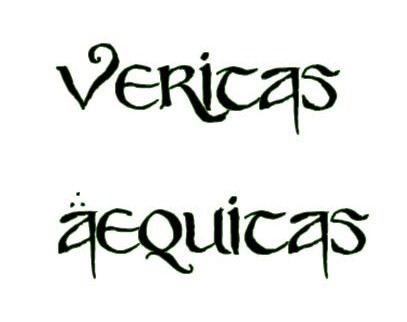 Veritas aequitas by draculasbride01 on deviantart for Veritas aequitas tattoos