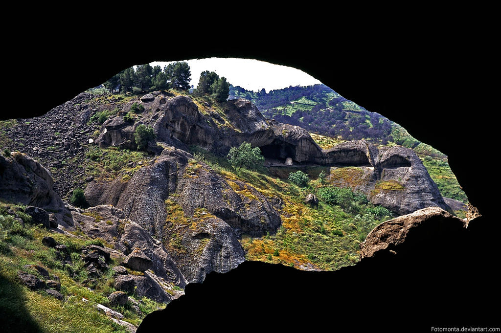 Caves near El Chorro - Prov. Malaga by Woscha