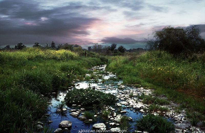 Jordan River by Woscha