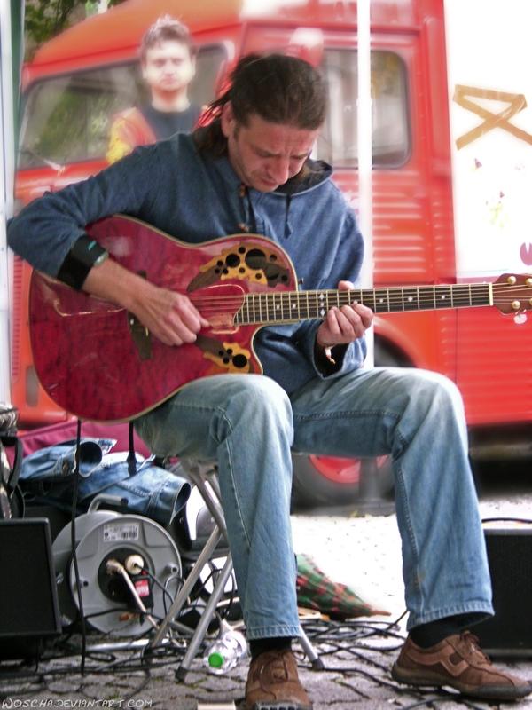 Street Musician by Woscha