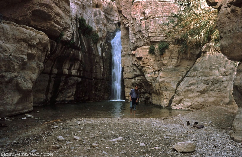 Nahal Arugot - Waterfall by Woscha