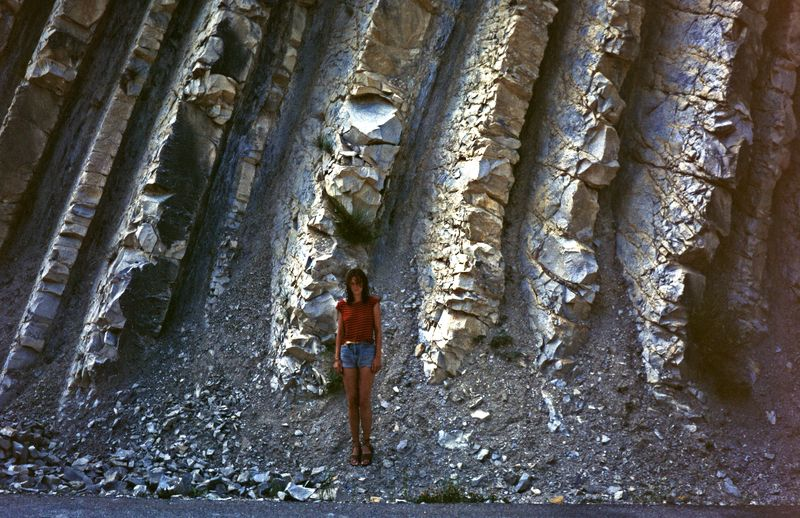Vertical Folded Rocks - Pyrenees - France by Woscha