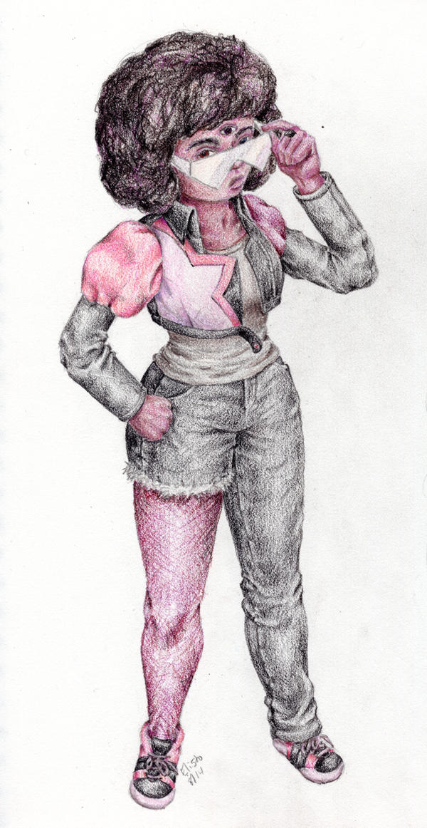 Street Clothes Garnet in colored pencil by Elisto