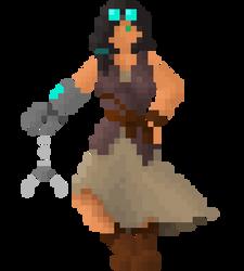 Belle, the steampunk tinkerer by HappyPixelKitten