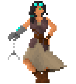 Belle, the steampunk tinkerer