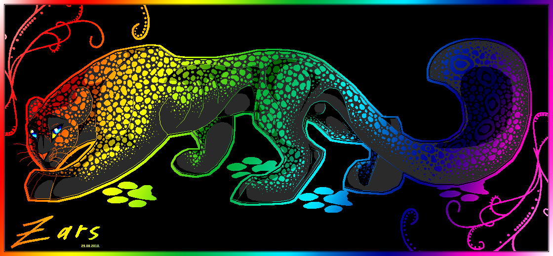 colorful leopard backgrounds artistic - photo #30
