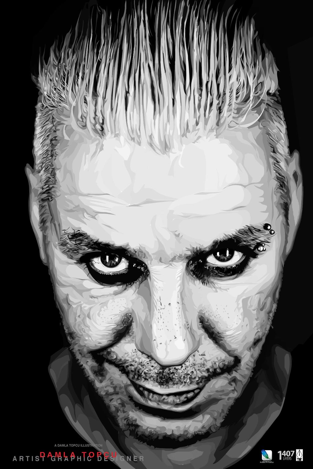 Till Lindemann-illustration drawing by Damla Topcu by damla-deviantart