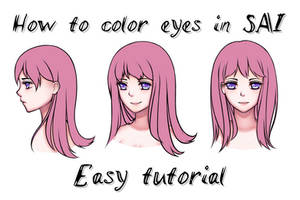 How to color eyes