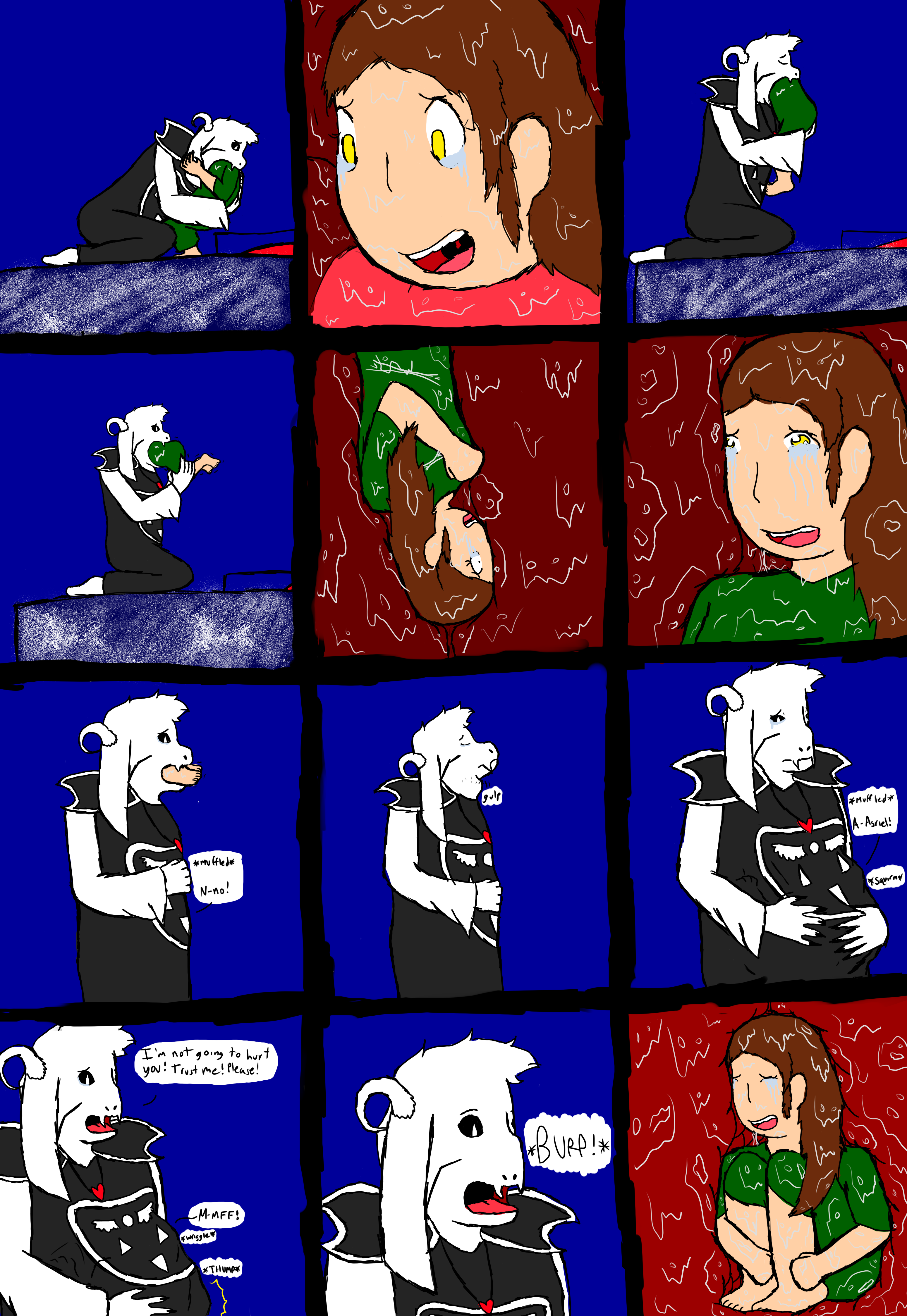Asriel Dreemurr Comic protection(asriel vore comic) page 2pillowfloof on
