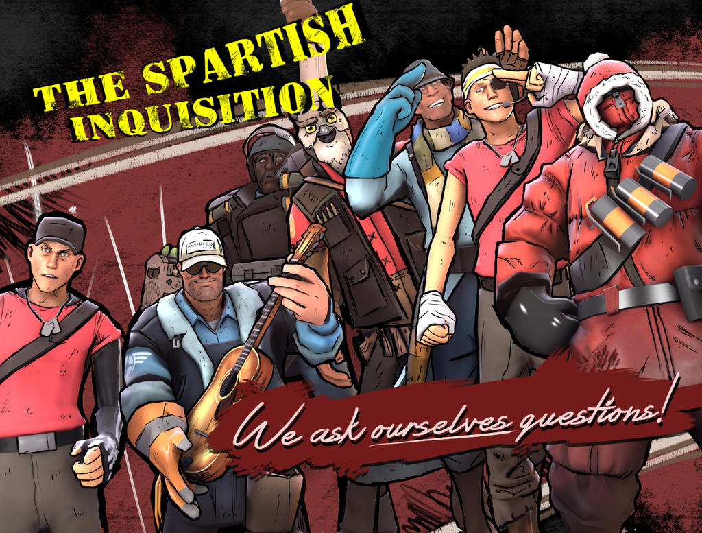 The Spartish Inquisition- Borderlands 2 style by TwitchyHooligan