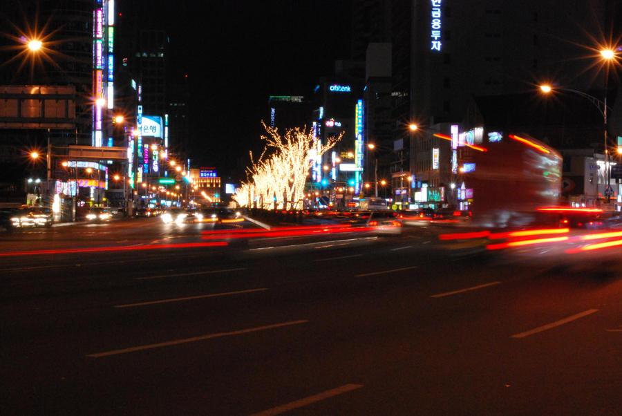 Daegu at Night by SoCallMeNothing