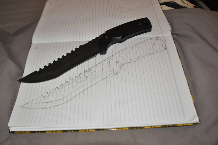 Drawing Vs Realistic Dagger By SergeantLocker On DeviantArt
