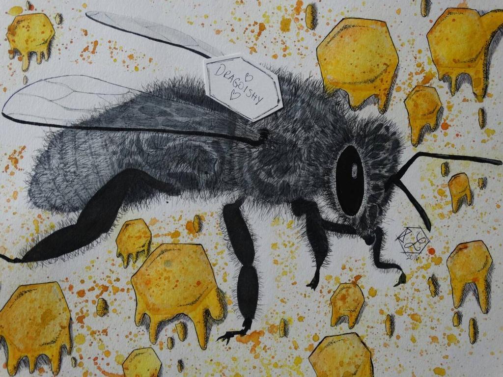 Tribal bee by dragoishy