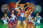 Sailor Moon and The Scouts