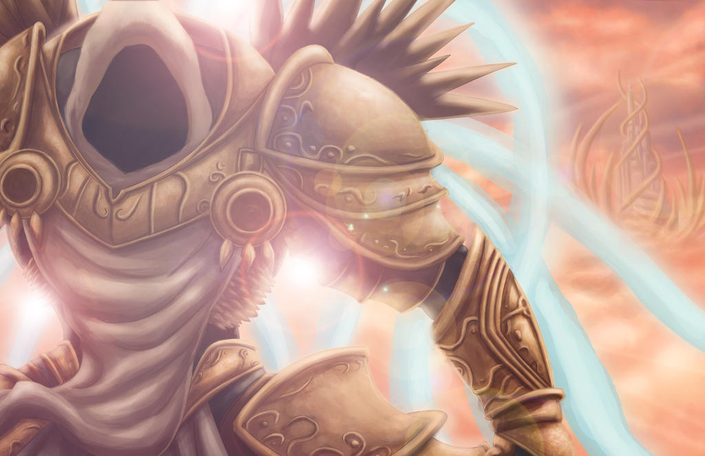 Tyrael Commission by K-fry-express