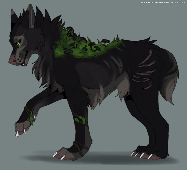 Mushroom canine adoptable #5 - CLOSED by ShadeDreams