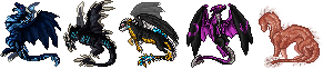 Dragon sprites - Gifts by ShadeDreams