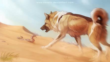 Serpent des sables by Nereiix
