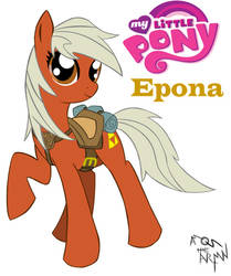 Epona pony my little pony by AmostheArtman