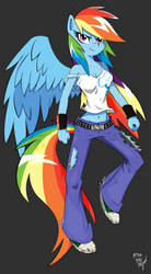 Anthro Rainbow Dash preview by AmostheArtman