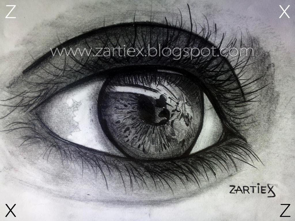 Dibujos a lapiz realistas de un ojo humano 1 by SeenartSeeds on