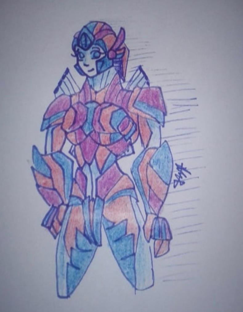 Scarlet Prime (Mech Form) by TheDorkyTomboy