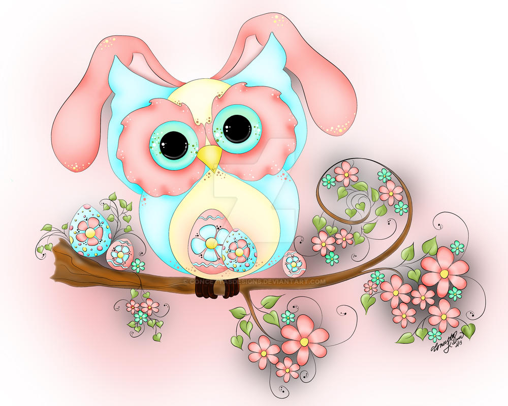 Easter Bunny Hooty by concettasdesigns on DeviantArt