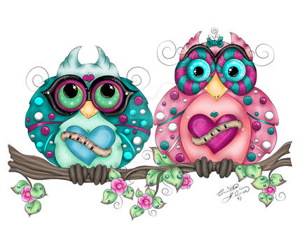 Spring Fling Owl Pair