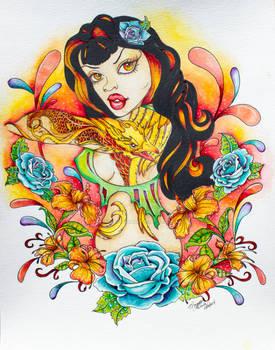Flight of the Phoenix - Pin Up Pop Surreal Art
