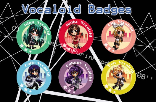 P3 Vocaloid badges by Armedius