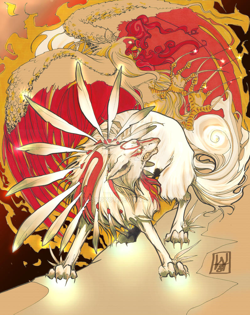 okami and the phoenix by weshoyot