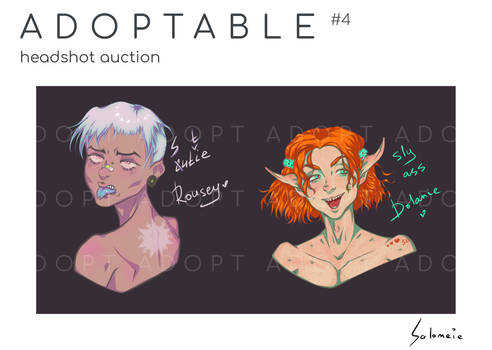 Headshot auction OPEN 2 slots - Rousey and Dolanie