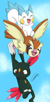 PKMN - Risky Flight by caat