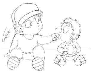 Misc - Protagonist Babies by caat