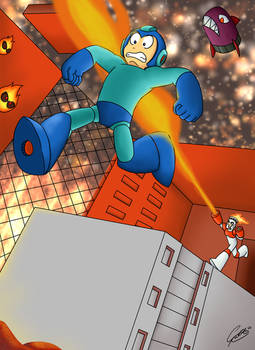 GIFT - Mega Man vs Fire Man... sort of