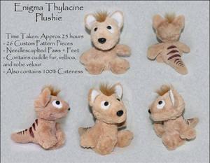 Sitting Enigma Thylacine Plushie