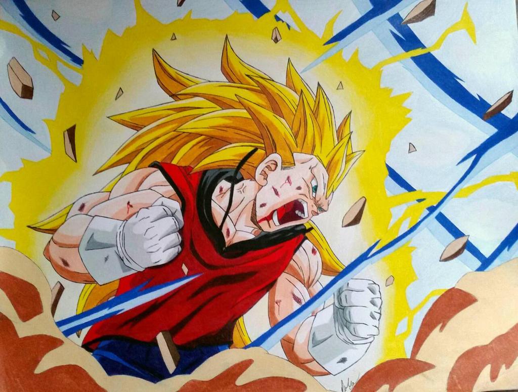 Vegeta goes super saiyan 3 by japanda82 on deviantart - Sangohan super saiyan 3 ...