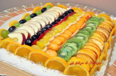 Crostata all'arancia con crema e frutta by LedeliziediPatrizia