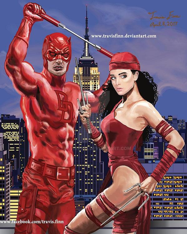 Daredevil And Elektra In NYC