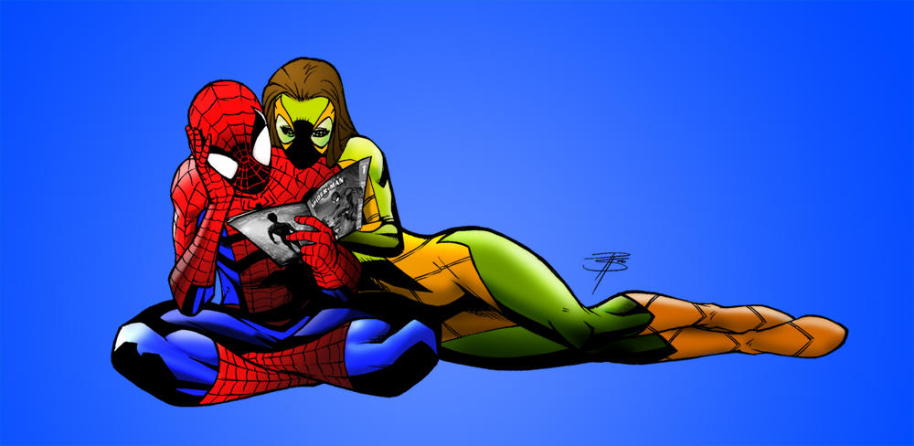 ult spidey and shadowcat by i-kingpin