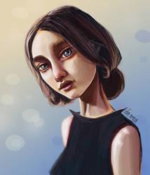 Blue Girl Portrait