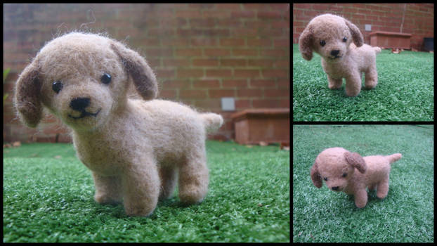 Needle Felted Dachshund by LittleCraftyFriends