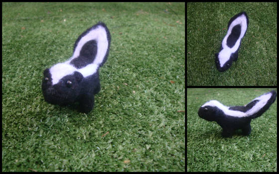 Needle Felted Skunk by LittleCraftyFriends