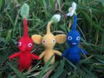 Needle felted Pikmin by LittleCraftyFriends