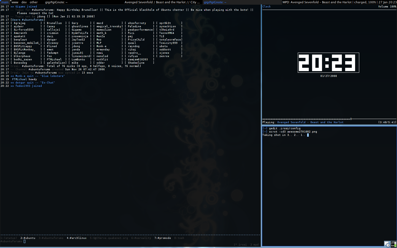 AwesomeWM Desktop 27.01 by Gigamlol