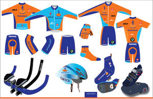 Rabobank cycling clothing desi by mambographic
